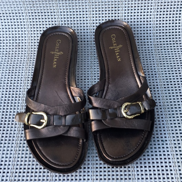 uk availability 6c162 077d3 Cole Haan women's bronze colored Nike sandals